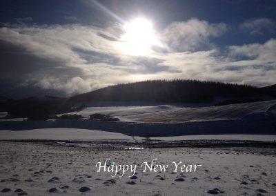 Happy New Year - pic Glen Nochty Strathdon.