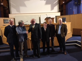 Members of the Board with John Bolland and Billy Kay.