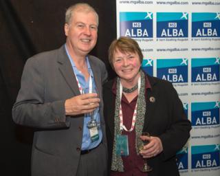 With BBC Alba boss Alan Esslemont