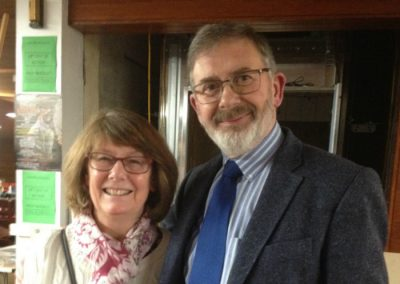 Prof Ian Russell and wife Norma