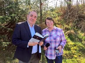 Alex Salmond with Frieda