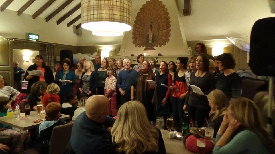Newhaven Community Choir in the Peacock Inn