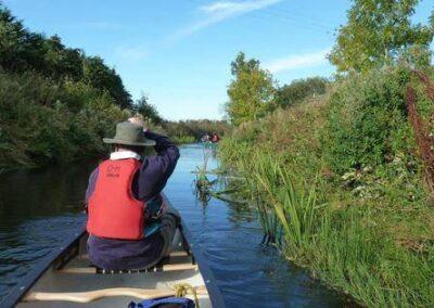 Paddlin oor ain canoe in the Laigh o Moray