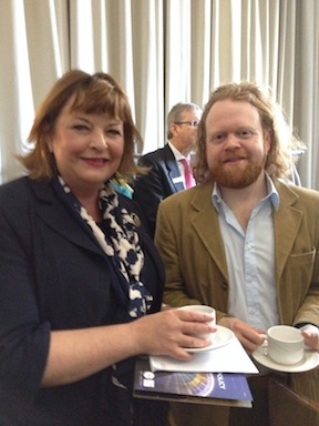 Cabinet Secretary Fiona Hyslop and Steve Byrne