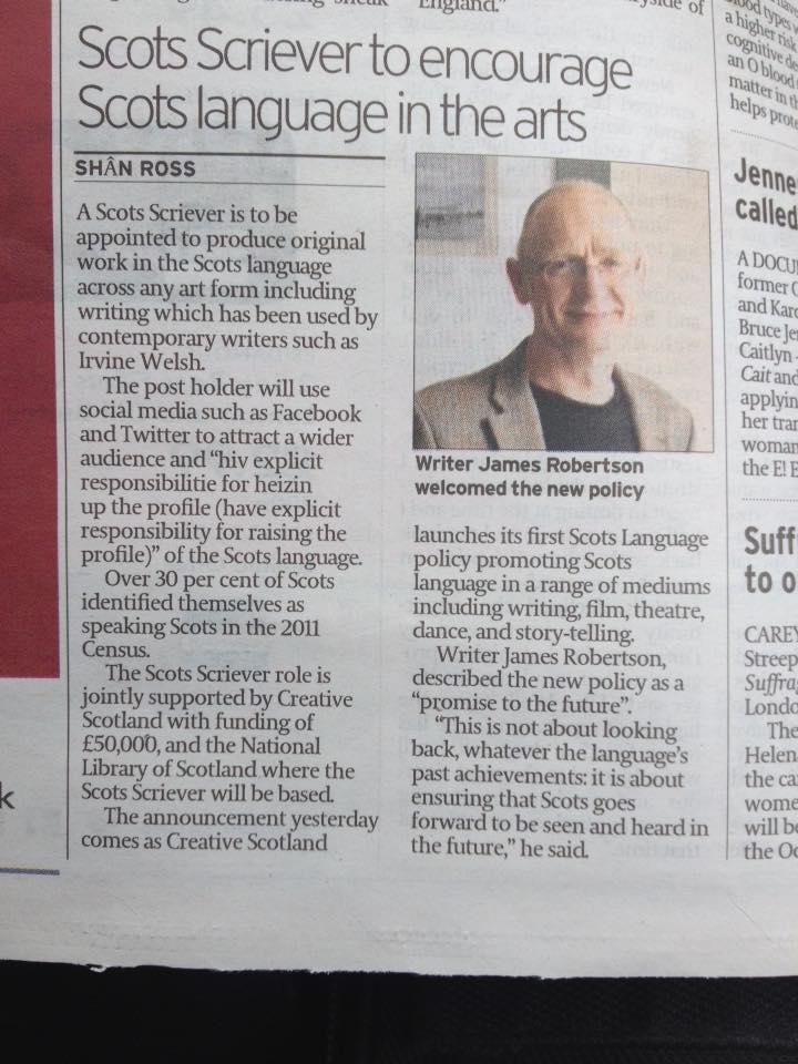 Scotsman Press Article