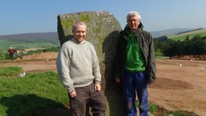 Pictish Dig - Rhynie, Aberdeenshire -Team Leader Gordon Noble with Irvine Ross (finder of the bead) - Episode 22.