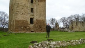 Jim Royan at Spynie Palace, Laigh o Moray