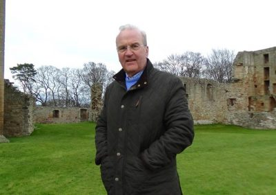 Jim Royan at Spynie Palace, Laigh o Moray