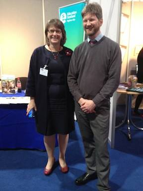 Scots Language co-ordinators - Diane Anderson wi Dr Simon Hal