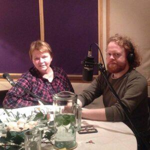 Frieda and Steve in the studio