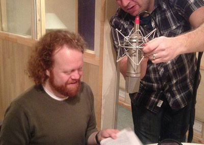 Episode 1 - Steve and Richard at the recording of the first episode of Scots Language Radio