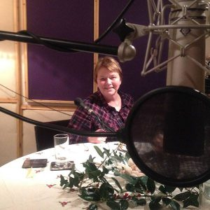 Episode 1 - Frieda at the recording of the first episode of Scots Language Radio