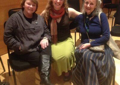 Frieda Morrison wi Blue-grass singer Eliza Lynn and folklorist Margaret Bennet