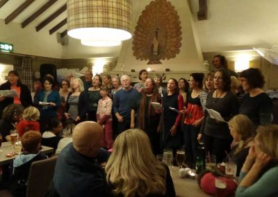 Newhaven Community Choir in the Peacock Inn