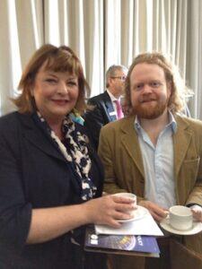 Cabinet Secretary Fiona Hyslop and Steve Byrne