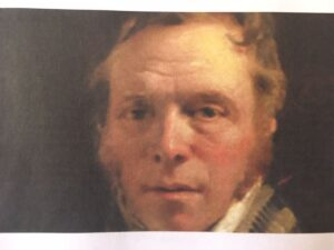 Picture of a painting of the author James Hoog 1770-2020