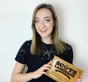Iona Fyfe Scots Singer with award for Scots Performer 2020
