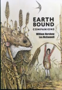 Book Cover of Earth Bound Companions featuring drawing of a harvest mouse and Robert Burns